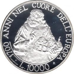 Moneta > 10000lire, 2000 - San Marino  (1700° anniversario - Repubblica) - reverse