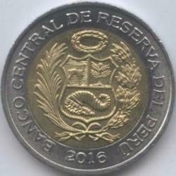 سکه > 2سول, 2016 - پرو  - reverse
