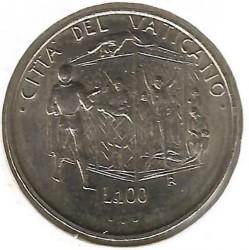 Mynt > 100lire, 1995 - Vatikanstaten  - reverse
