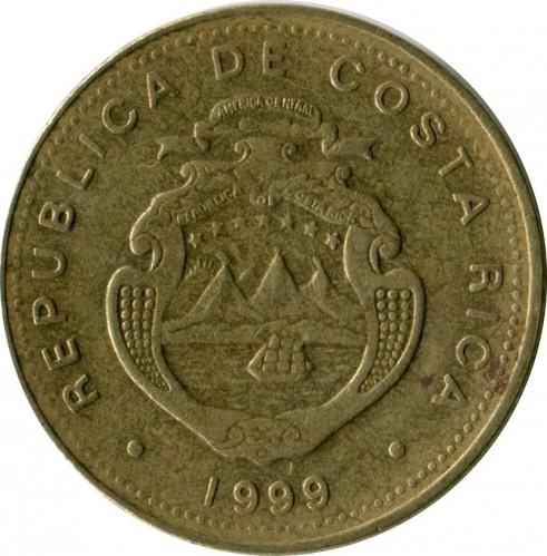 Coin 100 Colones 1999 Costa Rica Obverse