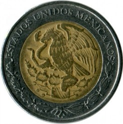 Moneta > 1pesas, 1996-2018 - Meksika  - reverse