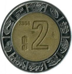 Coin > 2pesos, 2004 - Mexico  - reverse