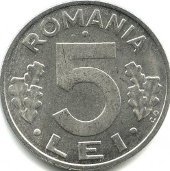 Monēta > 5lejas, 1992-2000 - Rumānija  - reverse