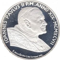 Moneta > 500lirów, 1997 - Watykan  (XII Światowe Dni Młodzieży) - obverse