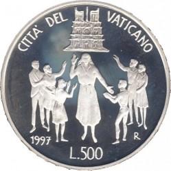Moneta > 500lirów, 1997 - Watykan  (XII Światowe Dni Młodzieży) - reverse