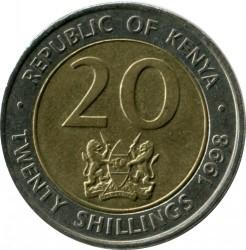 Монета > 20шиллингов, 1998 - Кения  - obverse