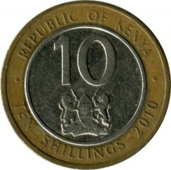 Монета > 10шиллингов, 2010 - Кения  - obverse