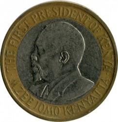 Монета > 10шиллингов, 2010 - Кения  - reverse