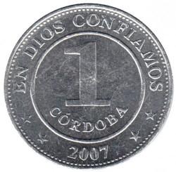 Moneda > 1córdoba, 2002-2014 - Nicaragua  - reverse