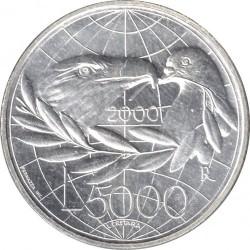 Монета > 5000лір, 2000 - Сан-Марино  (Мир) - reverse