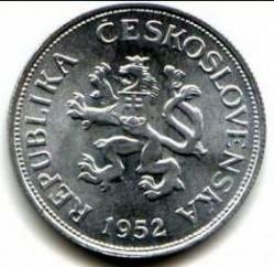 Münze > 5Kronen, 1952 - Tschechoslowakei  - obverse