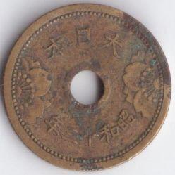 Coin > 5sen, 1938-1940 - Japan  - obverse
