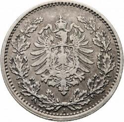 Кованица > 50фенинга, 1877-1878 - Немачка  - obverse