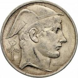 "Minca > 50francs, 1948-1954 - Belgicko  (Názov vo francúzštine - ""BELGIQUE"") - obverse"
