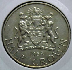 Coin > ½crown, 1964 - Malawi  - reverse