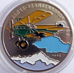 Monedă > 200franci, 1995 - Benin  (Hansa-Brandenburg D. I) - reverse