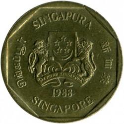Münze > 1Dollar, 1987-1991 - Singapur   - obverse