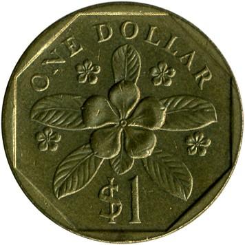 1 Dollar 1987 1991 Singapur Münzen Wert Ucoinnet