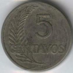 Moneda > 5centavos, 1919 - Perú  (UN MIL NOVECIENTOS DIECINUEVE) - obverse