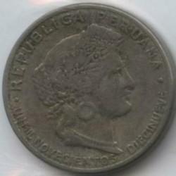 Moneda > 5centavos, 1919 - Perú  (UN MIL NOVECIENTOS DIECINUEVE) - reverse