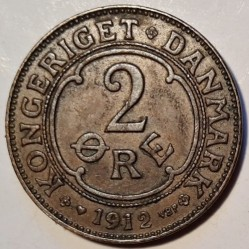 Coin > 2ore, 1912 - Denmark  - obverse