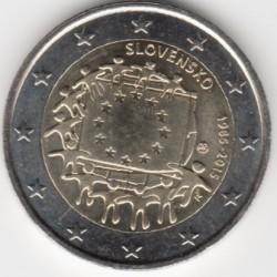Moeda > 2euro, 2015 - Eslováquia  (30 Anos da Bandeira da União Europeia) - obverse