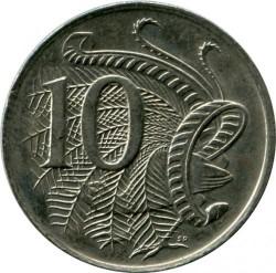 Кованица > 10центи, 1966-1984 - Аустралија  - obverse