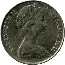 Кованица > 10центи, 1966-1984 - Аустралија  - reverse