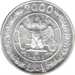 سکه > 1لیره, 2000 - ایتالیا  (History of the Lira - Lira of 1936) - reverse