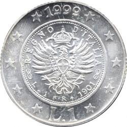 سکه > 1لیره, 1999 - ایتالیا  (History of the Lira - Lira of 1901) - reverse