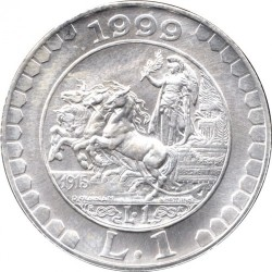 سکه > 1لیره, 1999 - ایتالیا  (History of the Lira - Lira of 1915) - reverse
