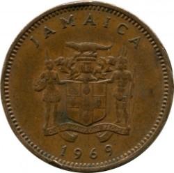 Pièce > 1cent, 1969-1971 - Jamaïque  - obverse