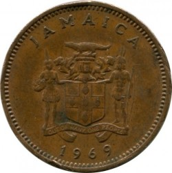 Pièce > 1cent, 1969-1971 - Jamaïque  - reverse