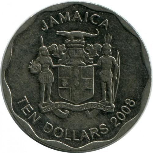 Coin 10 Dollars 2008 2017 Jamaica Obverse