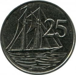 Coin > 25 cents, 1999-2013 - Cayman Islands  - obverse