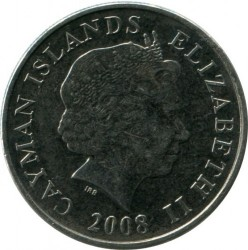Coin > 25 cents, 1999-2013 - Cayman Islands  - reverse