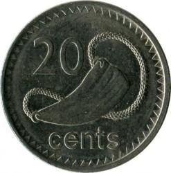 Coin > 20cents, 2009-2010 - Fiji  - reverse