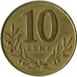 Moneda > 10lekë, 1996-2000 - Albània  - obverse