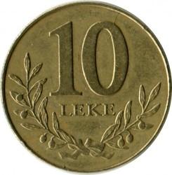 Moneda > 10lekë, 1996-2000 - Albània  - reverse