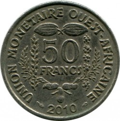 Moneta > 50franków, 2010 - Afryka Zachodnia (BCEAO)  - obverse