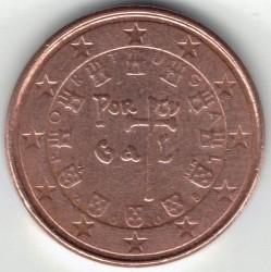 Moneta > 1eurocentas, 2008 - Portugalija  - reverse