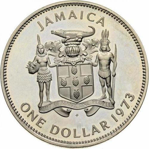 1 Dollar 1971 1979 Jamaika Münzen Wert Ucoinnet