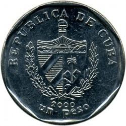Монета > 1песо, 1994-2018 - Куба  - obverse