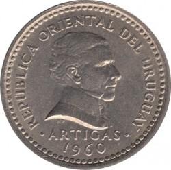 Monedă > 25centésimo, 1960 - Uruguay  - obverse