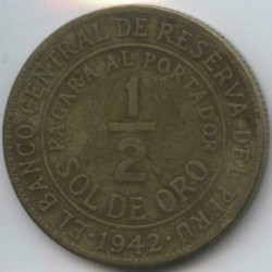 Pièce > ½sol, 1935-1965 - Pérou  - obverse