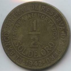 Pièce > ½sol, 1935-1965 - Pérou  - reverse
