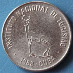 Монета > 1сентаво, 1988 - Куба  (INTUR: Арабські цифри, Олень) - obverse