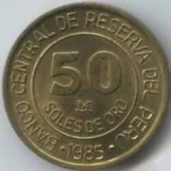 سکه > 50سول, 1985 - پرو  - reverse