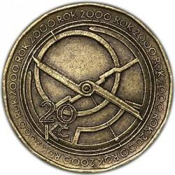 Moneta > 20koron, 2000 - Czechy  (Millennium - Rok 2000) - obverse
