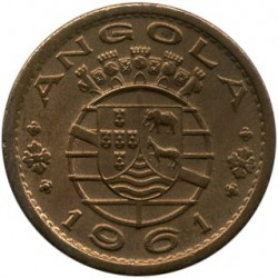 Monēta > 50sentavo, 1953-1961 - Angola  - reverse